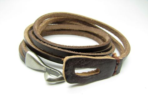 Jewelry Bangle Brown Bracelet Women Leather Bracelet Girl Leather Bracelet Men Leather Bracelet 513A. $9.00, via Etsy.