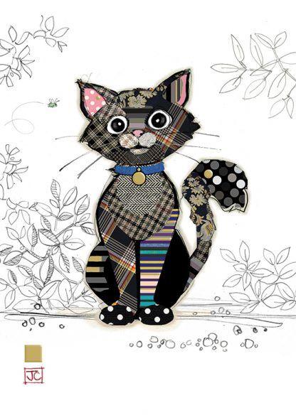 G014 Kasper Kitten bug art greeting card