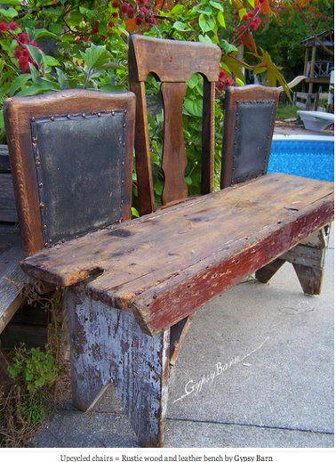 Fabriquer un banc de jardin avec des chaises et planche bois en 2019 ...