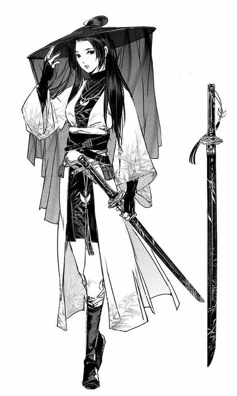 Character Illustration, Samurai Art, Character Art, Character Inspiration, Character Design, Art Girl, Fantasy Character Design, Anime Drawings, Art