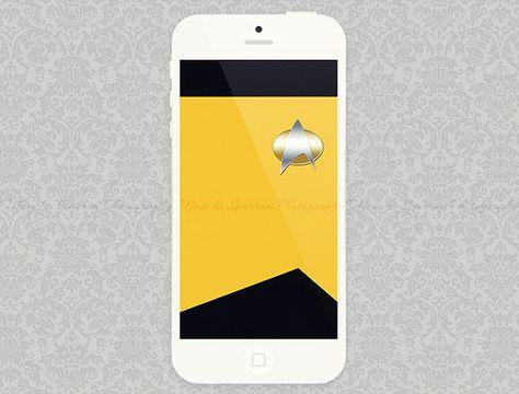 Iphone 5 Wallpaper Yellow Star Trek Minimalist Artwork Instant Download Digital File Esty With Images Iphone Iphone 5 Wallpaper Minimalist Artwork