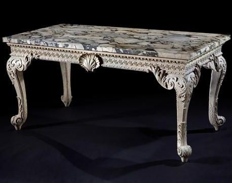 C1740 An Important George Ii Period Carved And Painted Side Table