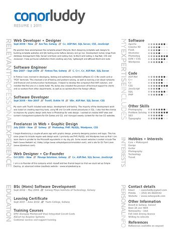 star scales for skills, clean \ orderly Visual Resumes - resume software skills