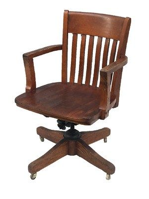 Antique Wooden Office Chair Wooden Office Chair Vintage Desk Chair Antique Wooden Chairs