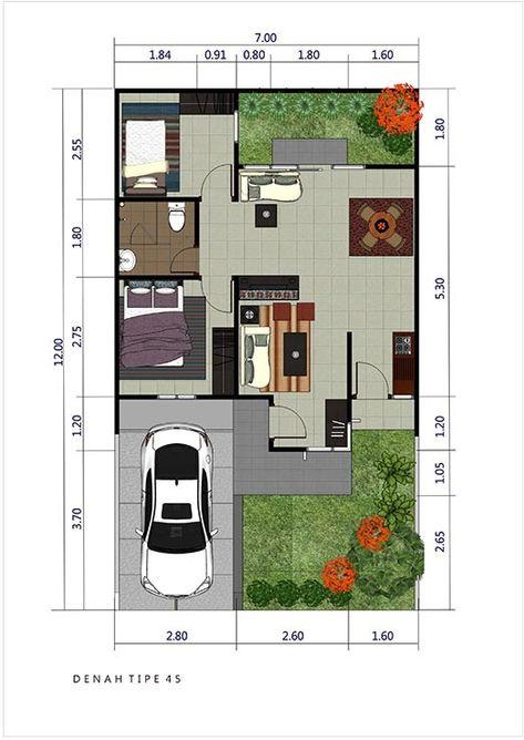 Pin Oleh Georgy Watung Di Case Moderne Denah Rumah Gaya Rumah Denah Desain Rumah