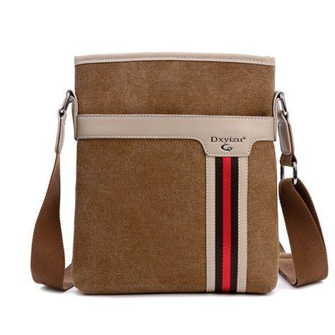 93face389d7a Men Messenger Bags Casual Men Business Bag Canvas Zipper Durable Laptop Bag  for IPAD Crossbody Bags Brown Black Blue