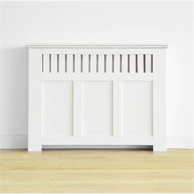 Richmond Radiator Cabinet Cover Smooth White W 120 X H 90 X