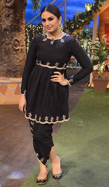 Huma Qureshi in a Payal Singhal ensemble, Amrapali jewellery & Fizzy Goblet juttis