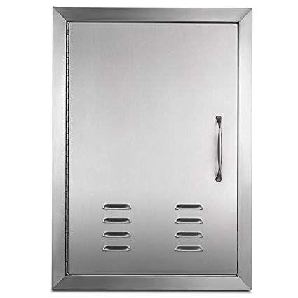 Seeutek Outdoor Kitchen Doors Bbq Access Door 31w X 24h Inch Stainless Steel Double Wall Construction Vert Outdoor Kitchen Grill Grill Station Kitchen Storage