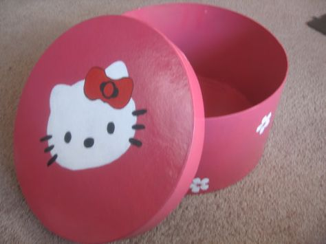 fd80e25ef Large Hat Box Hot Pink with Hello Kitty by Blossommistic
