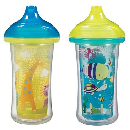 Munchkin Click Lock Insulated Hard Spout Sippy Cup 2 Pack Walmart Com In 2020 Sippy Cup Toddler Sippy Cups Toddler Cup