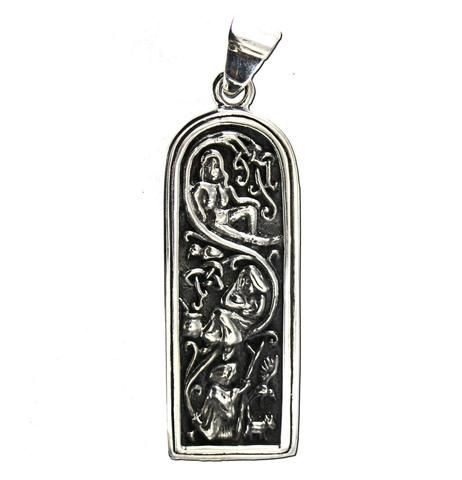 Sterling Silver Maiden Mother /& Crone Pendant Wiccan Goddes Pagan Dryad Design