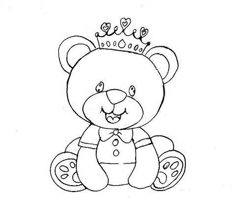 Reizinho Com Imagens Pinturas De Ursos Desenho De Urso Pintura Em Fraldas