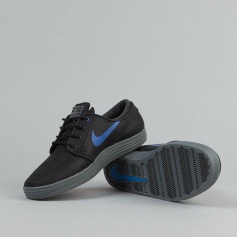 new styles 4fa0a af841 Nike SB Lunar Stefan Janoski Shoes - Black   Game Royal   Cool Grey    Flatspot