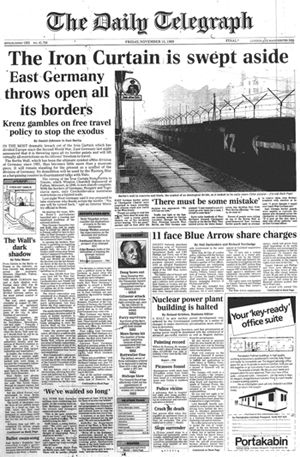 The Iron Curtain Is Swept Aside Krant