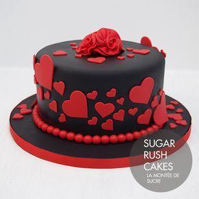 Hearts Cake For Eight Cake For Husband Birthday Cake Chocolate Cake Decorating With Fondant