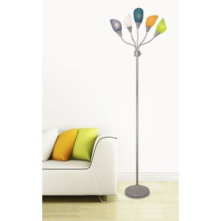 Adjustable Modern Floor Lamp Multihead Stand Up Lamp Bedroom Light With 5 Head Positionable Multicolor Acrylic Reading Shades Grey Walmart Com Floor Lamp 5 Light Floor Lamp Kids Floor Lamp