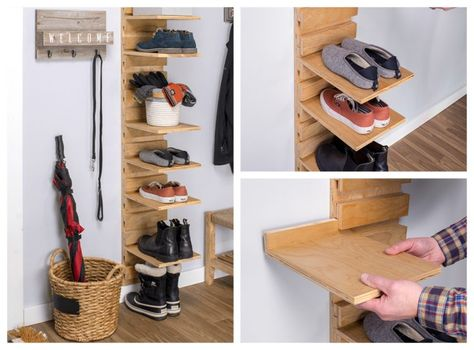 21+ Easy and Cheap DIY Shoe Rack Ideas