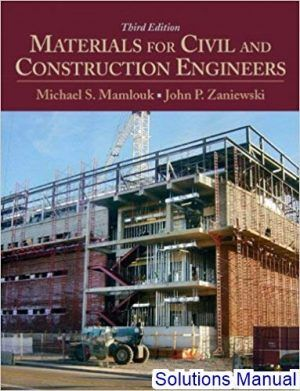 Materials For Civil And Construction Engineers 3rd Edition Mamlouk