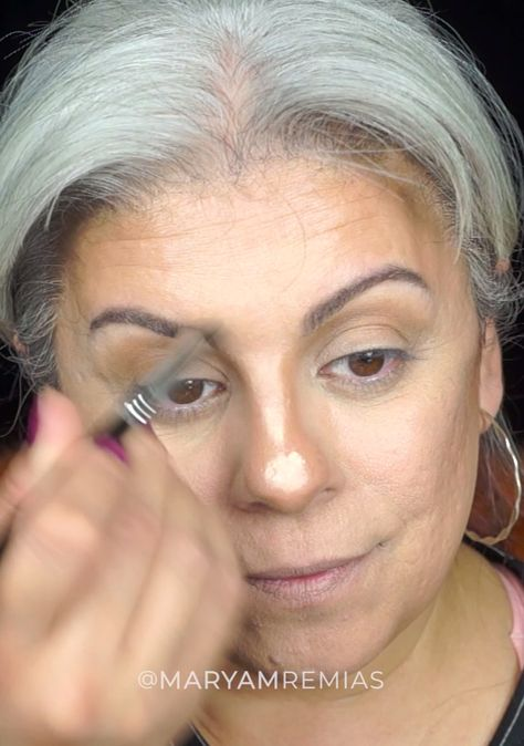 Full Face Makeup and Red Eye shadow
