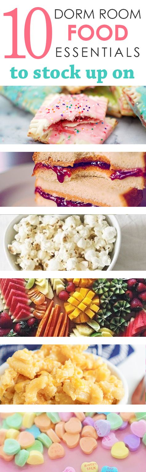 10 Dorm Room Food Essentials to Stock Up On