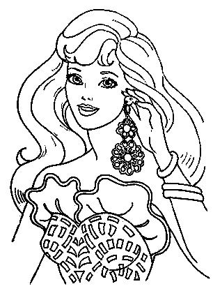 Pin On Barbie Coloring