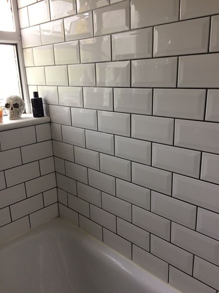 White Tiles With Dark Grout Anyone Done This Mumsnet Discussion White Tiles Grey Grout White Tile Shower White Bathroom Tiles