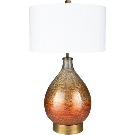 Surya Updated Traditional Lulu Table Lamp With White Finish Lul 001 Walmart Com Lamp Table Lamp Glass Table Lamp