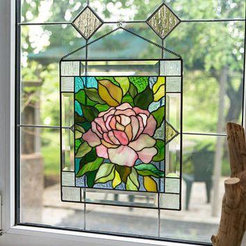 Stained Glass Birds Suncatcher Glass Hanger Of Bird Etsy