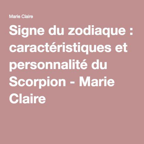Signe du zodiaque : caractéristiques et personnalité du Scorpion - Marie Claire