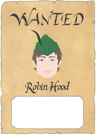 invitation ideas for Robin Hood party Robin Hood birthday - create a wanted poster free