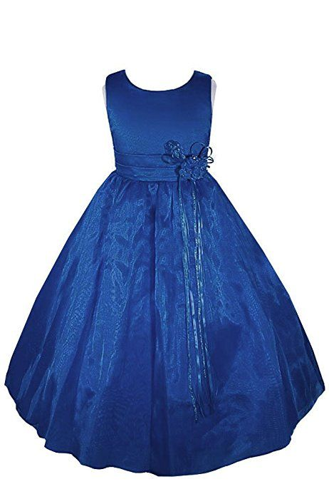 85b6f11a180 Amazon.com: AMJ Dresses Inc Little Girls' Burgundy Flower Holiday Dress  A8002 Sz 4: Special Occasion Dresses: Clothing