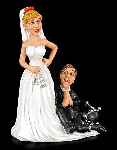 Lustige Brautpaar Figur Brautigam Hat Lebenslanglich Tortenfigur Tortenaufsatz Brautpaar Figuren Brautpaar Torten Figuren
