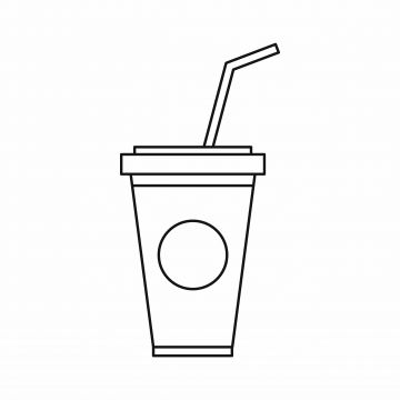 A Soft Drink In Paper Cup With Lid And Straw Icon Paper Cup Drink Png And Vector With Transparent Background For Free Download White Drinks Drink Icon Refreshing Cocktails