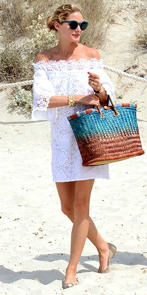 Look praia Olivia Palermo beach wear alert