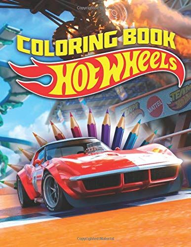 Hot Wheels Coloring Book 42 Exclusive Illustrations Books Coloring Books Illustration