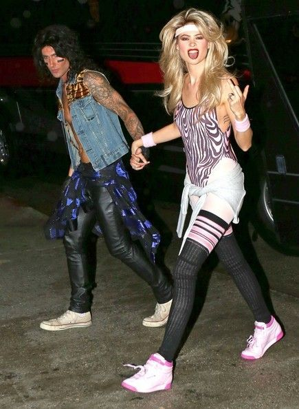 Behati Adam Halloween 2020 80s party outfits   Celebrity halloween costumes   80s party