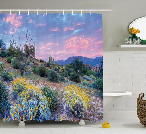 Albrechtice Cactus Sunset Shower Curtain Hooks Cactus Shower Curtain Shower Curtain Hooks Curtains