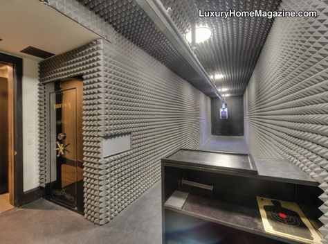 Private indoor shooting range in home