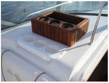 Custom Teak Cup Holder Boat Cup Holders Engineered Hardwood Flooring Boat Interior