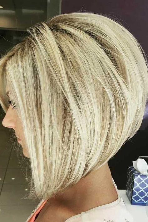 Inverted Bob Hairstyles, Long Bob Haircuts, Medium Bob Hairstyles, Stacked Hairstyles, Short Stacked Bob Haircuts, Thin Hairstyles, Round Face Haircuts, Modern Haircuts, Hairstyles 2018