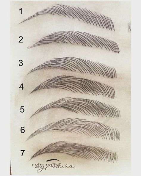 The various shapes my eyebrows have been in  I don think I could do micro blading I can't choose.