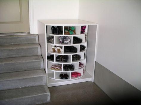 Drehbares Schuhregal Im Eingangsbereich Schuhschrank Selber Bauen Zuhause Diy Schuhregal Selber Bauen