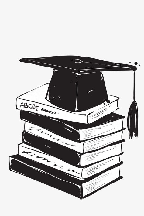 Book Hat Bachelor Cap Graduation Season Element, Book, Hat, Bachelor Cap PNG Transparent Clipart Image and PSD File for Free Download