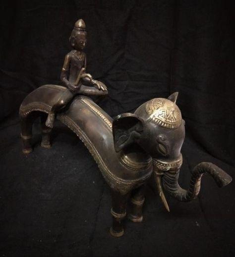 Bhagawan Indra Brass Statue