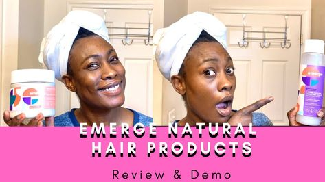 Emerge Hair Care Products Demo And Review Youtube In 2020 Hair Care Natural Hair Care Social Media Outlets