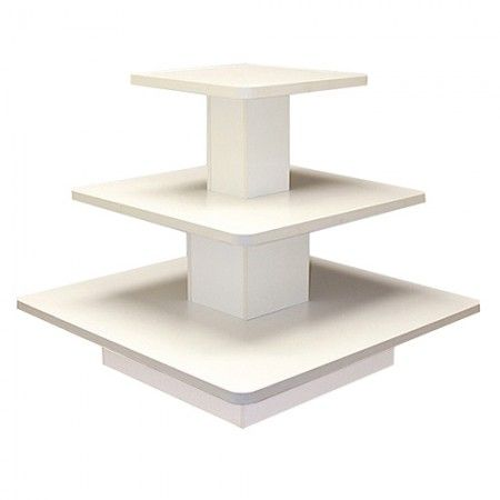 Square 3 Tiered Table White Store Fixtures Square Tables Table