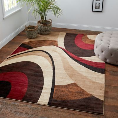 Home Dynamix Tribeca 7 10 X 10 6 Area Rug In Brown Red In 2020