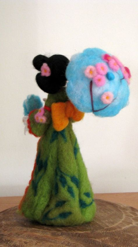 Art doll Geisha doll Waldorf inspired Needle felted geisha | Etsy