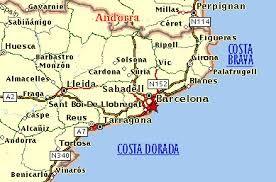Resultado De Imagen Para Costa Brava Mapa Costa Lleida Mapas